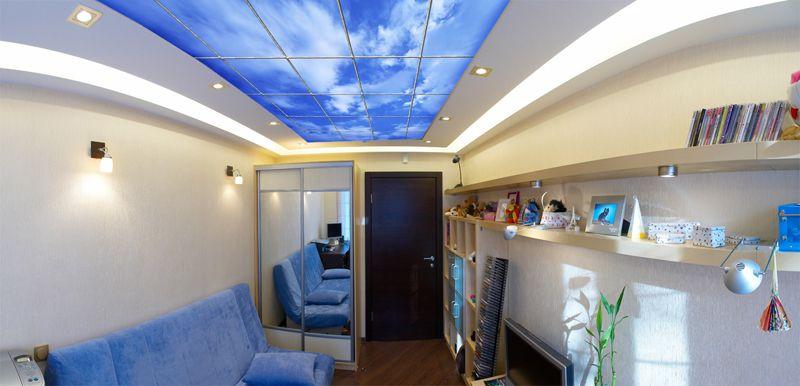 Натяжной потолок сколько уменьшает комнату